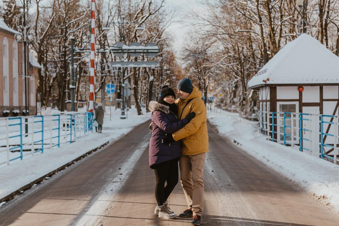 Zimowa sesja rodzinna na Mazurach